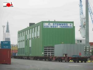 Firmengelände des Süd-West Terminals der Firma C. Steinweg
