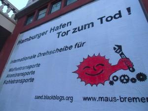 Plakatwand der roten Flora in Hamburg im Juni 2016